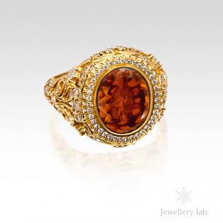 Перстень золотой под заказ в Киеве