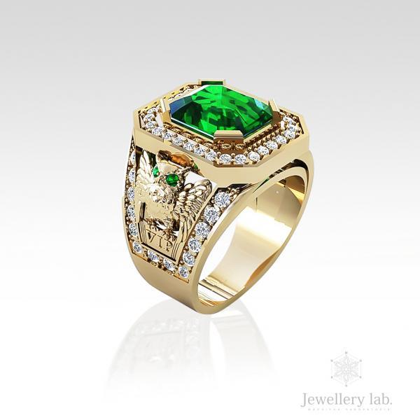 Мужской золотой перстень на заказ в Киеве